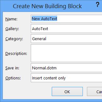 """""""新建构建基块""""对话框"""