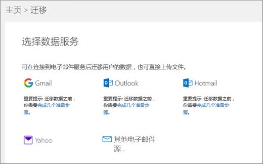 选择电子邮件服务