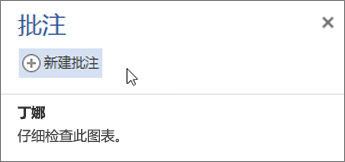 """""""批注""""窗格"""