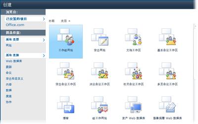 SharePoint 网站模板