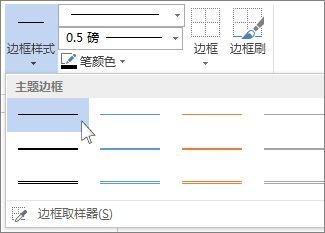 表格边框样式