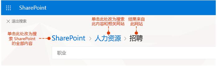 显示结果的来源和可选的位置的屏幕截图搜索