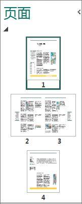 显示单页和跨页的导航窗格。