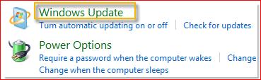 選取 Windows Update >系統>安全管理>控制台。