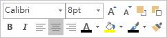 非固定文字編輯工具或迷你工具列