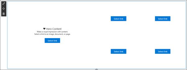 在空白狀態的示範用圖像網頁組件