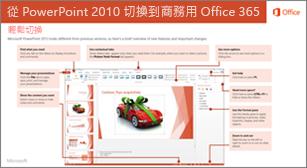 從 PowerPoint 2010 切換到 Office 365 的指南縮圖