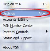 Select settings on drop down