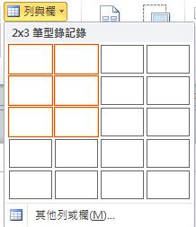 型錄頁面配置的列數與欄數