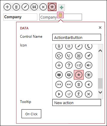 Access 應用程式中的 [新增自訂控制項]