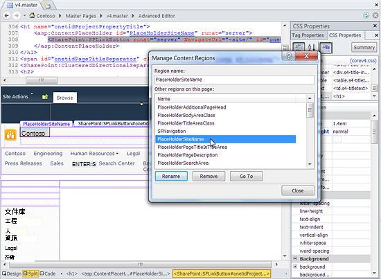 SharePoint 2010 主版頁面