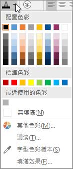 字型調色盤