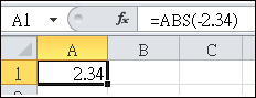 公式會顯示在資料編輯列