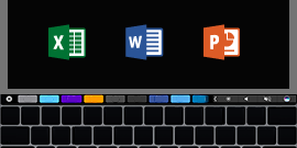 Mac 版 Office 的 Touchbar 支援