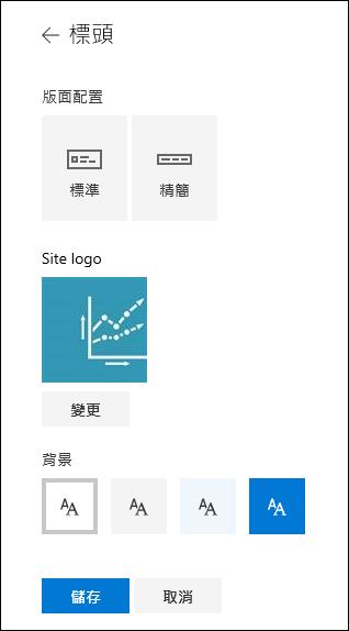 SharePoint 網站標題版面配置