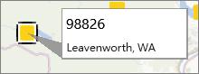 PowerMap 上的郵遞區號註釋