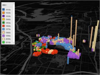 含黑色佈景主題的 Power Map