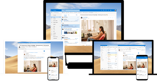 Yammer 與多個平臺上的 Outlook 整合