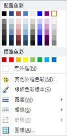 Publisher 2010 中的 [文字藝術師圖案外框] 格式設定選項