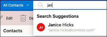 使用搜尋列搜尋人員。