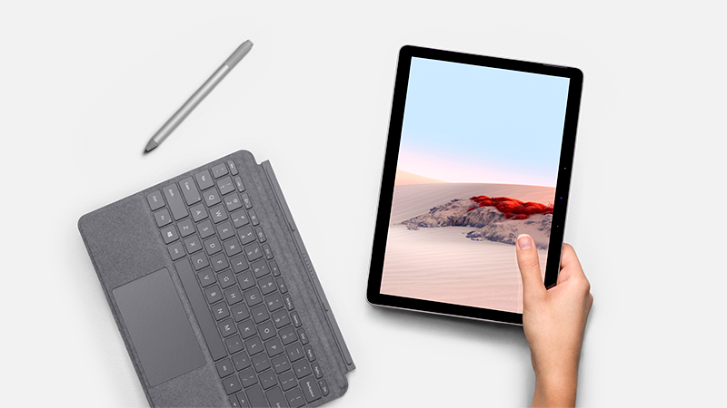 Surface Go 2 Surface 實體鍵盤保護蓋與手寫筆