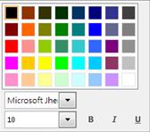 變更字型視窗的螢幕擷取畫面
