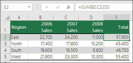 使用明確儲存格參照的公式,例如 =SUM(B2,C2,D2),如果某欄遭到刪除就會產生 #REF! 錯誤。