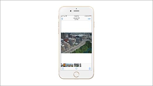 顯示圖片的 iPhone