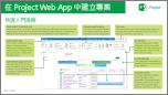 《Project Web App 快速入門指南》中的<建立專案>