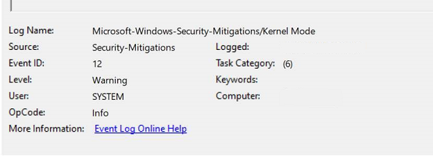 Microsoft-Windows-安全性-緩解/核心模式