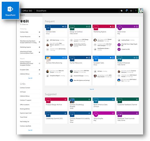 新式 SharePoint Online 的 [首頁] 頁面