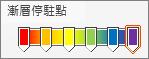 使用六個光圈的彩虹漸變