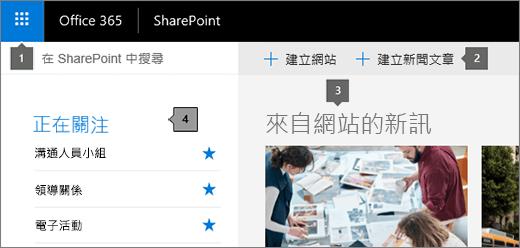 SharePoint Online 的主頁面