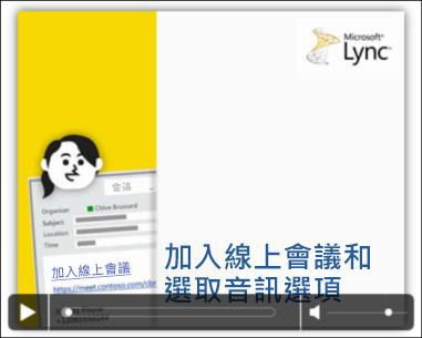 含視訊控制項之 PowerPoint 投影片的螢幕擷取畫面