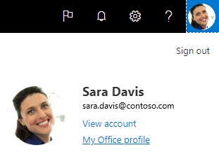Delve 中的 Office 個人檔案