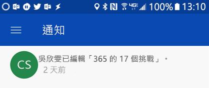 當 colleages 編輯您共用的檔案時,在 Android 的通知中心取得通知
