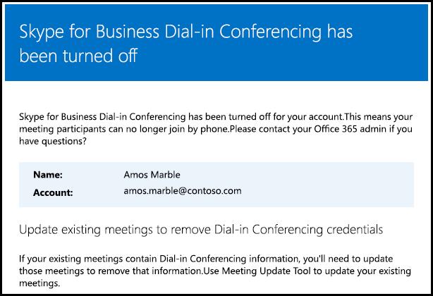 電話撥入式會議已關閉。