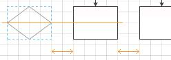對齊和間距調整輔助線