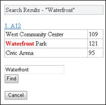 Mobile Viewer for Excel 中的搜尋結果