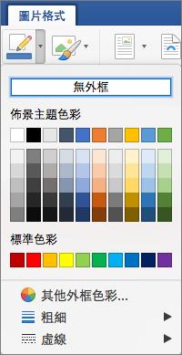 顯示圖片框線的外框色彩。