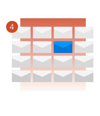 利用郵件通知絕不錯過重要郵件。