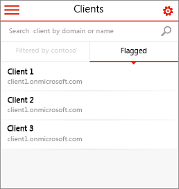 Office 365 合作夥伴管理員行動版首頁