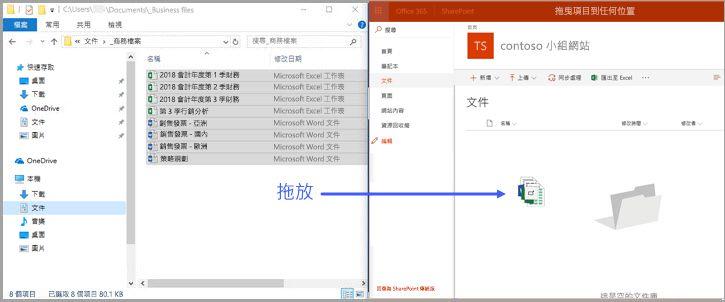 Office 365 SharePoint 文件庫-拖放功能