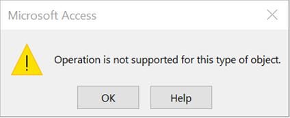 運算不支援此物件類型