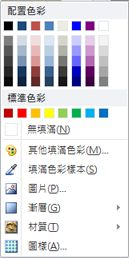 Publisher 2010 中的 [文字藝術師圖案填滿] 格式選項