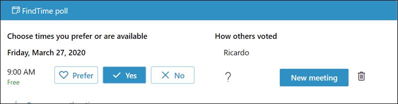 當您擁有足夠的回應數之後,您就可以排程會議。