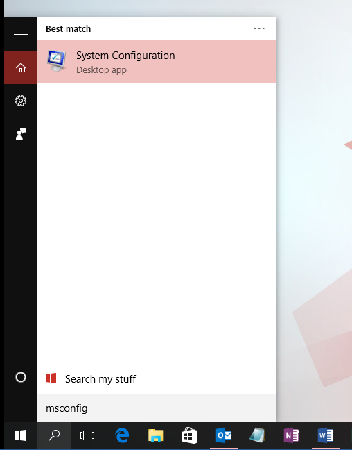Search result - System Configuration