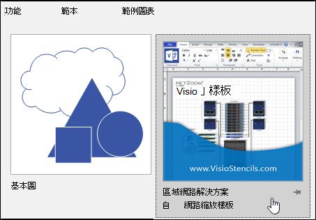 協力廠商提供的 Visio 範本縮圖