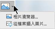 功能區的 [插入] 索引標籤上的 [插入圖片] 按鈕