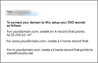 在 Wix.com 中使用這些 DNS 記錄設定